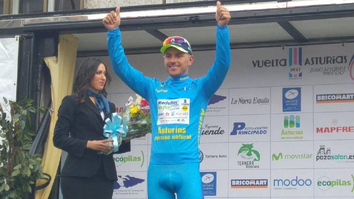 Colombiano Weimar Roldán gana etapa 1 de la Vuelta a Asturias