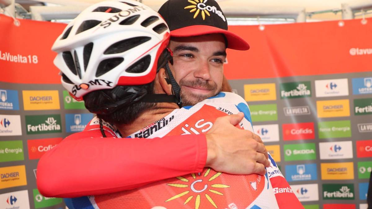 Nairo recorta tiempo en la Vuelta a España