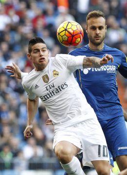 James jugó todo el partido y participó en dos goles