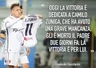 Giaccherini dedica gol a Zúñiga por fallecimiento de su padre