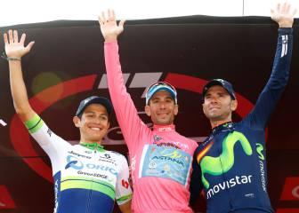 Chaves: aplausos y segundo lugar en la general del Giro