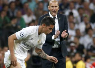 James tiene difícil seguir: no convenció a Zidane