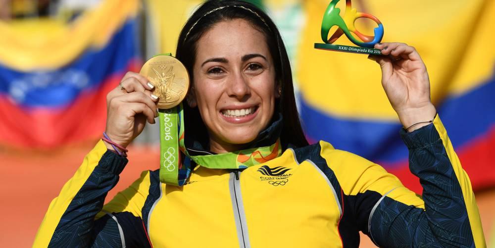 Mariana Pajón, ganadora de la medalla de oro de BMX en Rio 2016