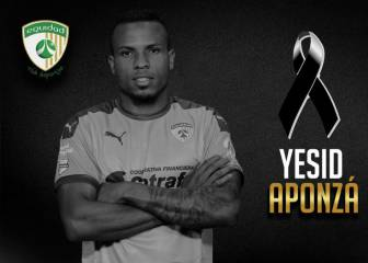 El futbolista colombiano Yesid Aponzá fallece en un accidente