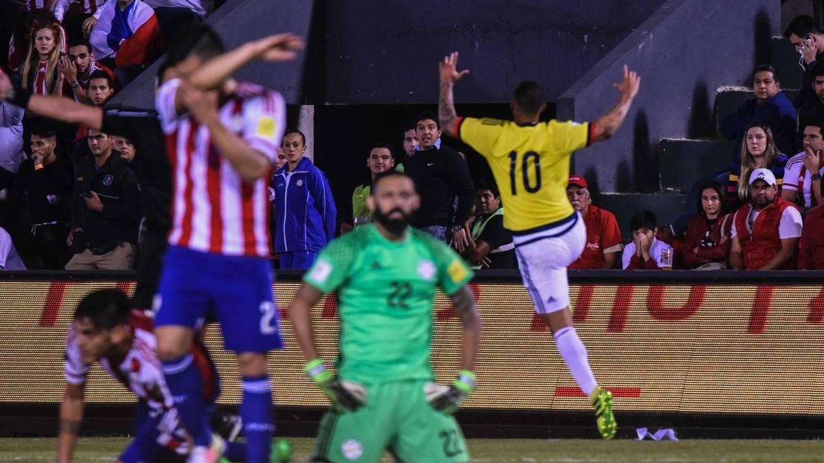 Sigue el Paraguay vs Colombia en vivo online, partido de la fecha 9 de Eliminatoria, hoy jueves 06/10/2016 a las 18:30h en As