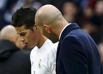 James y Zidane cumplen un año juntos en el Real Madrid