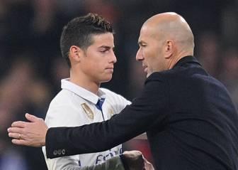 La receta de Zidane para ganar a Sampaoli: James, intensidad...