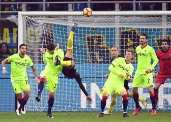 Murillo marca golazo de chilena con Inter en Copa Italia