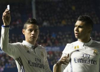 Real Madrid 1x1: James vuelve con un recital de pases