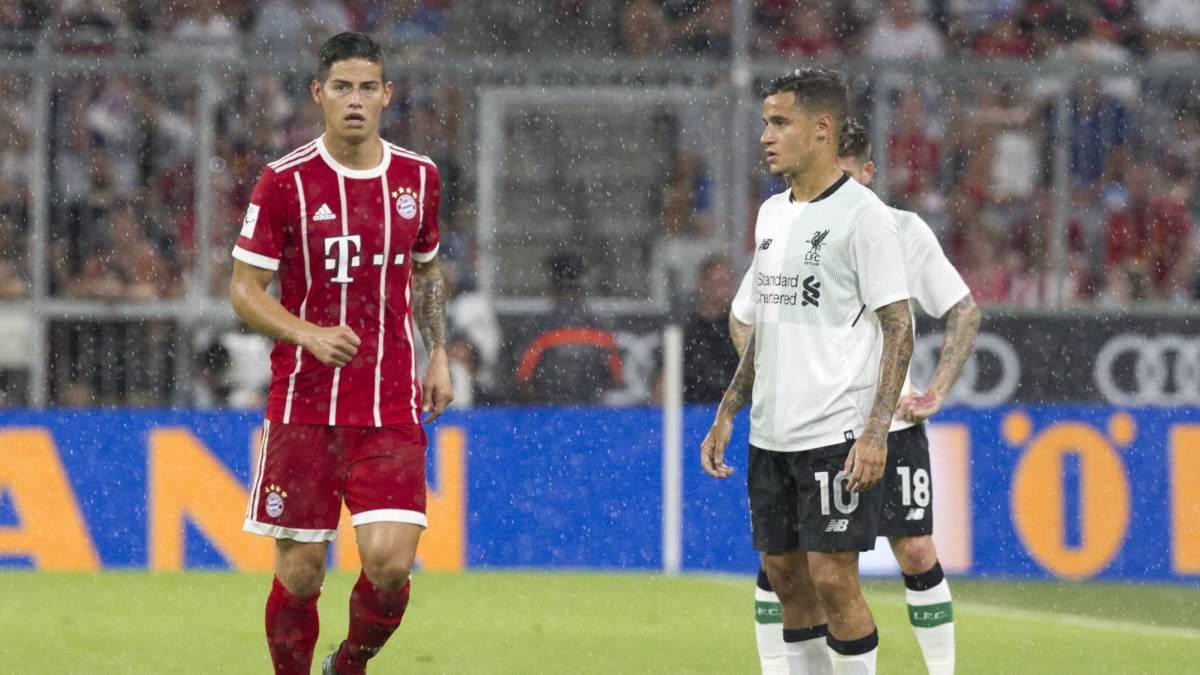 El Bayern Múnich confirma lesión muscular de James Rodríguez