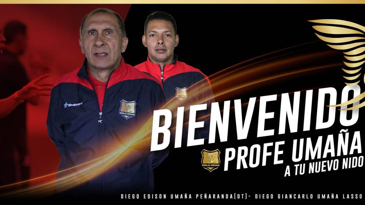 Diego Umaña fue oficializado como nuevo técnico de Rionegro Águilas