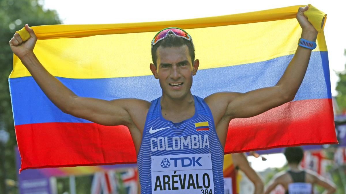 Colombiano Eider Arévalo, campeón mundial en marcha 20km