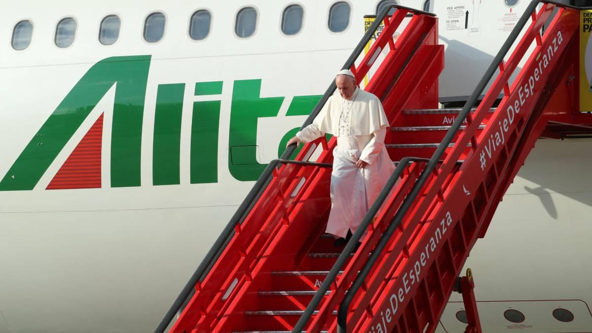 El Papa llegó a Colombia con el objetivo de reforzar la paz