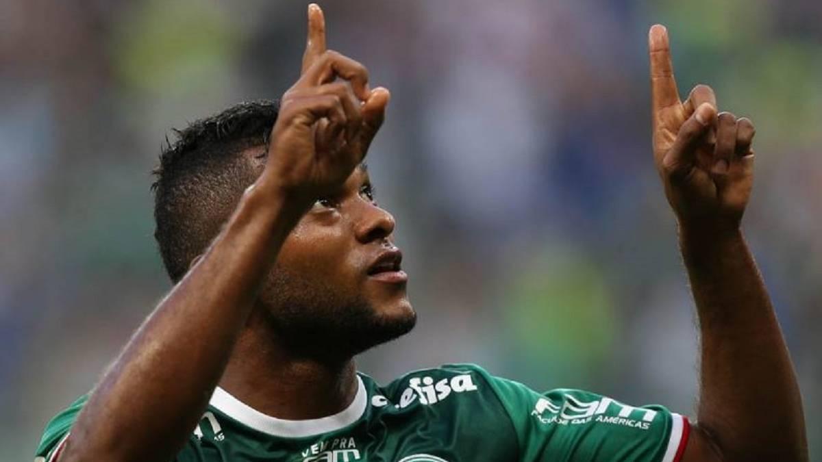Miguel ngel Borja tres meses sin hacer gol con Palmeiras AS
