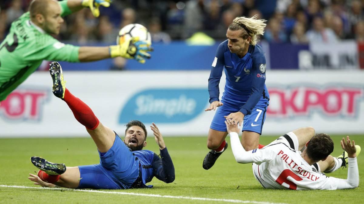 Francia vs Bielorrusia, eliminatorias Rusia 2018 — En vivo