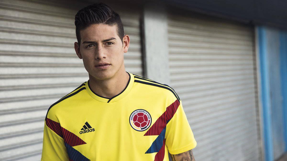 6eddac52fad James ya luce la nueva camiseta de la Selección para Rusia 2018 - AS ...