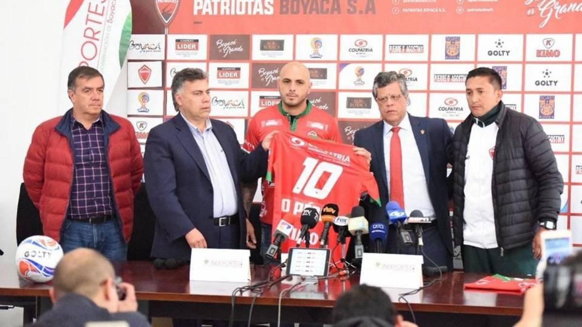 Omar Pérez será presentado como jugador de Patriotas