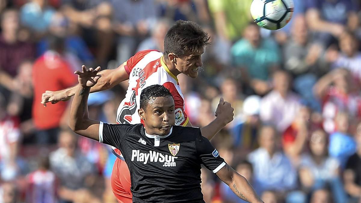Luis Muriel sale lesionado en la victoria del Sevilla al Girona