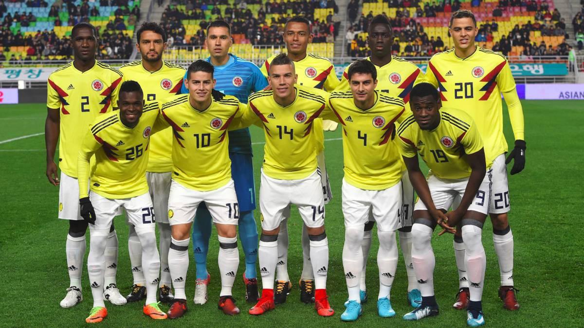 Resultado de imagen para selección de fútbol de Colombia 2018