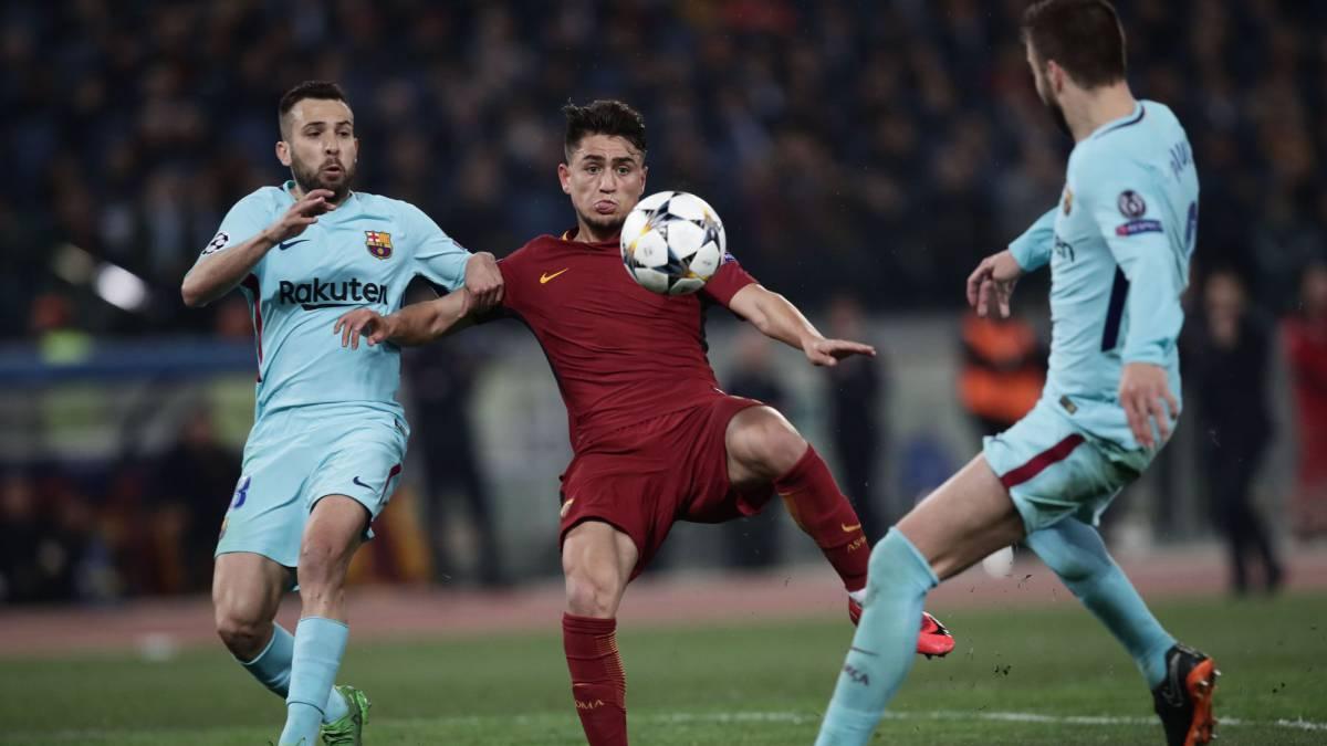 ¡Hazaña! Roma iguala global y elimina al Barcelona de Champions