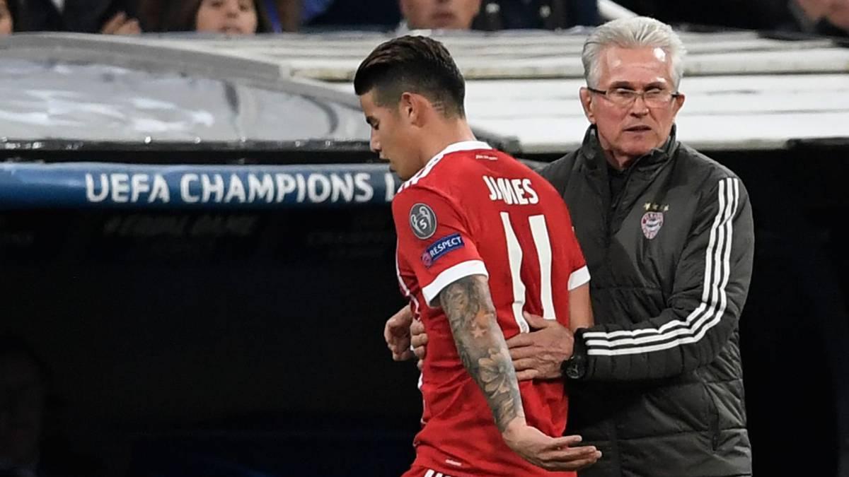 Jupp Heynckes sigue elogiando el trabajo de James ante el Madrid