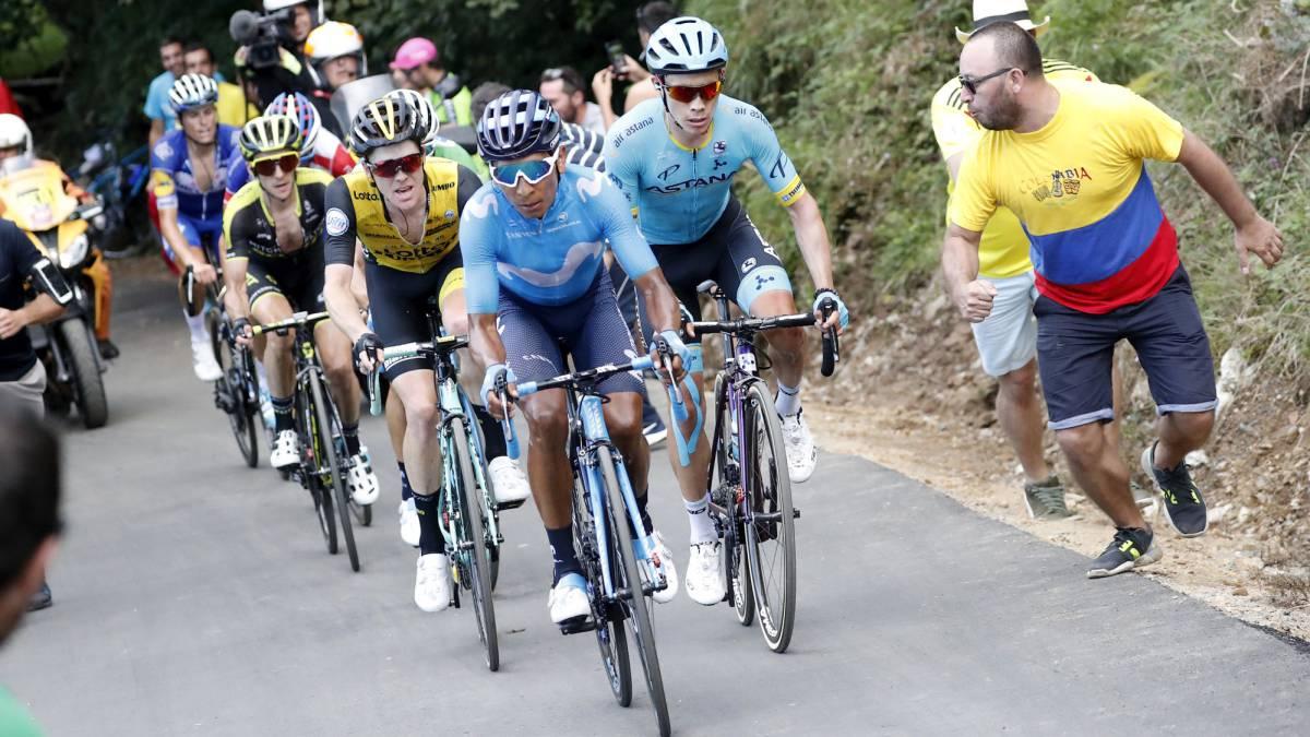 Valverde le da un 'mordisco' a Simon Yates en el Monte Oiz