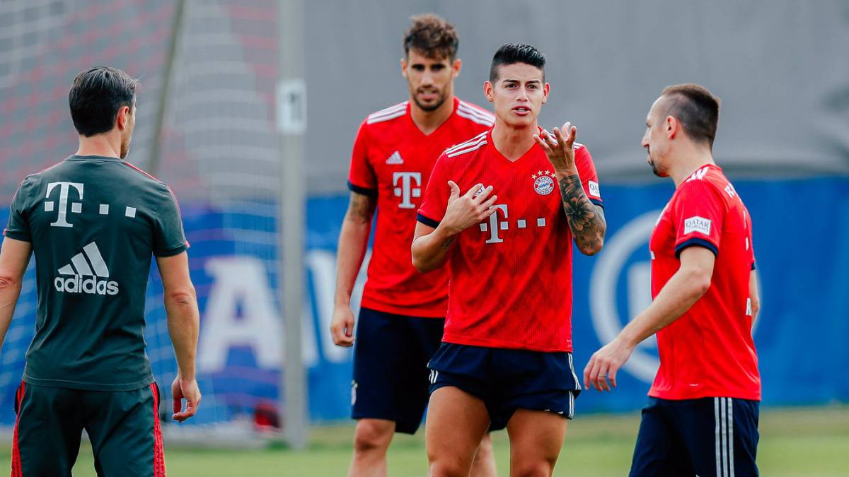 James, a encontronazos con medio Bayern