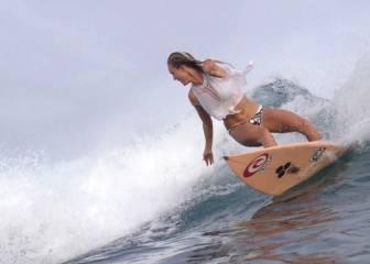 Inspiradora Bethany Hamilton: sin un brazo, surfea como pocos