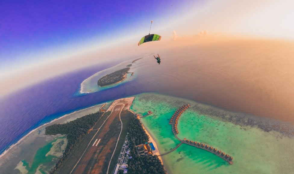 The Maldives: Skydiver Photographer Perspective