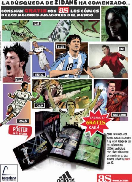 Los comics ADIDAS de los mejores jugadores del mundo