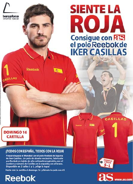 CONSIGUE GRATIS* CON AS EL POLO REEBOK DE IKER CASILLAS