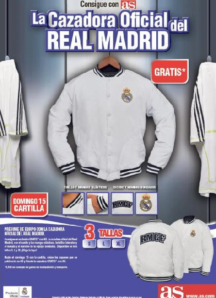 Consigue GRATIS* con AS la CAZADORA oficial del Real Madrid