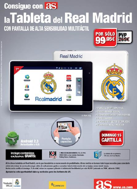 consigue con AS la tableta del Real Madrid