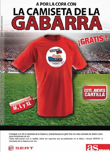 Consigue con AS LA CAMISETA DE LA GABARRA
