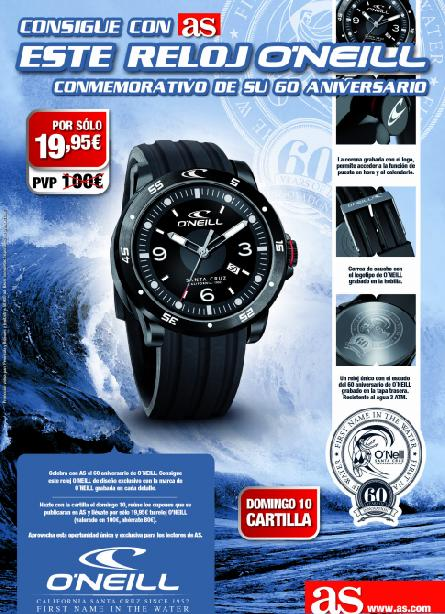 Consigue con AS tu RELOJ O´NEILL