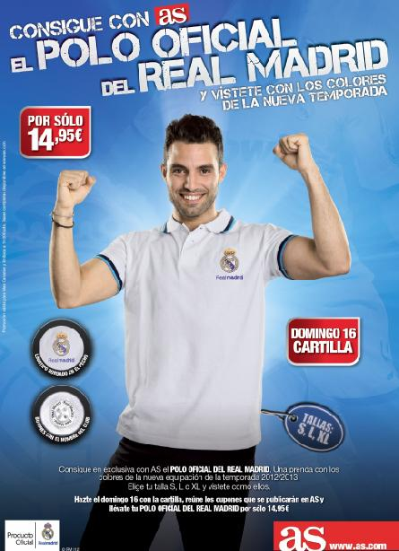 Consigue con AS un POLO OFICIAL DEL REAL MADRID CANARIAS
