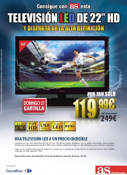 "Consigue con AS esta TELEVISIÓN LED 22"" HD"