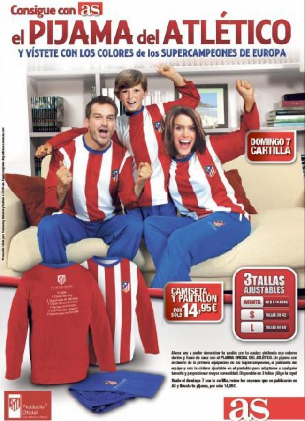 Consigue con AS el pijama del Atlético