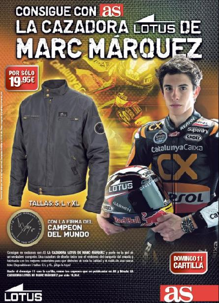 Consigue con AS la cazadora LOTUS de MARC MARQUEZ