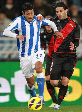Real Sociedad too good for shrunken Rayo Vallecano