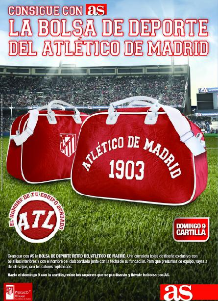 Consigue con AS la BOLSA RETRO DEL ATLÉTICO DE MADRID