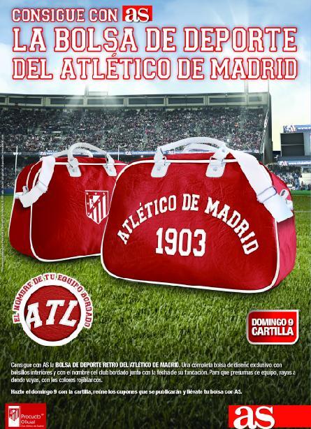 Consigue con AS la BOLSA RETRO DEL ATLÉTICO DE MADRID