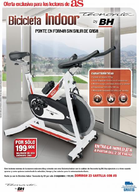 Consigue con AS una BICI INDOOR Tecnovita by BH