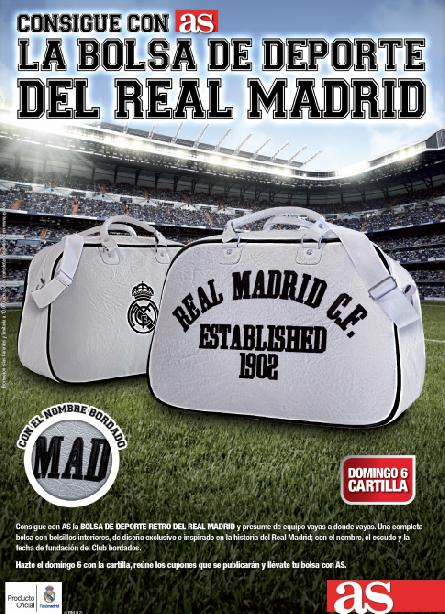 Consigue con AS la BOLSA RETRO DEL REAL MADRID