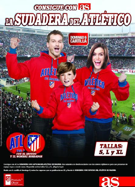 Consigue con AS la SUDADERA del ATL�TICO DE MADRID