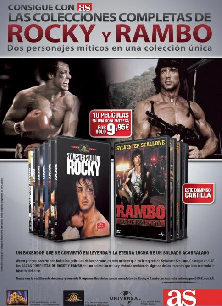 Consigue con AS la colección completa de ROCKY y RAMBO