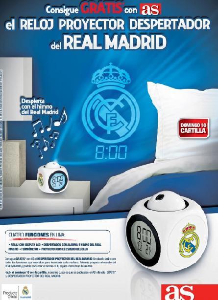 Consigue con AS el RELOJ PROYECTOR DESPERTADOR del REAL MADRID