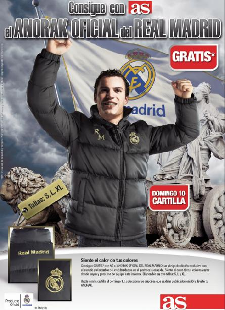 Consigue con AS el ANORAK DEL REAL MADRID