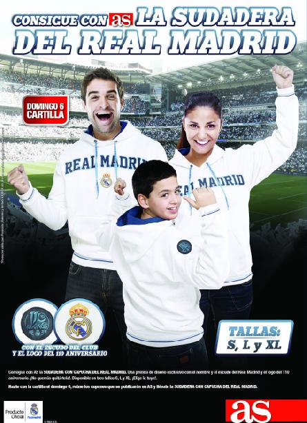 Consigue con AS la SUDADERA del REAL MADRID