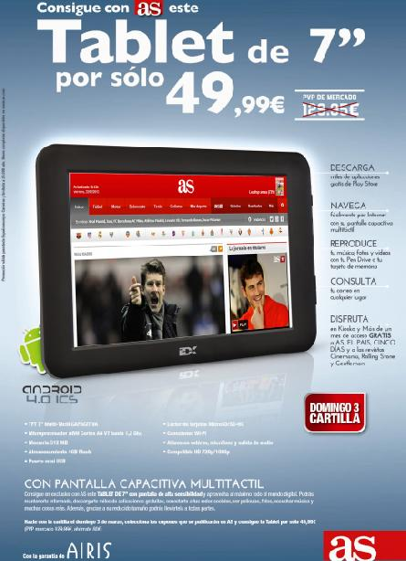 Consigue con AS una TABLET de 7""